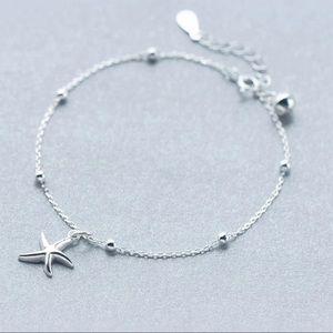 NEW 925 Sterling Silver sea star bracelet womens